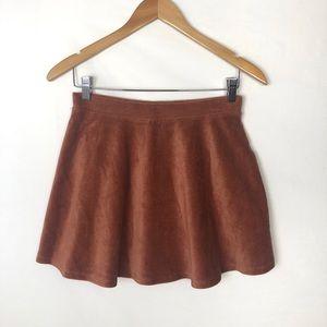 FOREVER 21 corduroy rust skater skirt size Medium